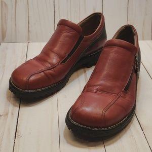 Donald J Pliner Sport Oxblood Red Loafer Shoes.
